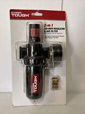 Hyper Tough 2 In 1 38 Compressed Air Filter And Regulator Kit Black