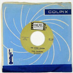 PAUL-PETERSEN-The-Cheer-Leader-Polka-Dots-And-Moonbeams-7IN-1963-TEEN-POP-NM