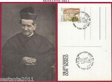 ITALIA MAXIMUM MAXI CARD CENTENARIO MORTE S. DON GIOVANNI BOSCO 1988 TORINO B623