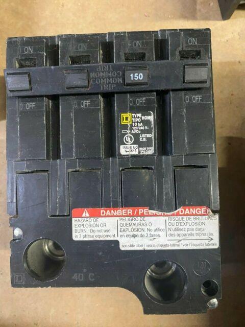 HOM2150BB new in box 150 amp 2 pole hom2150 circuit breaker square d homeline
