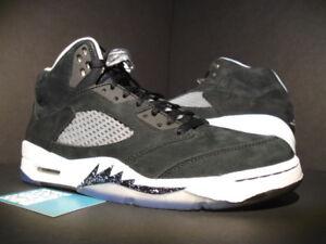 outlet store 492eb bd053 Image is loading Nike-Air-Jordan-V-5-Retro-OREO-BLACK-