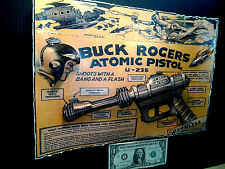Buck Rogers Atomic Pistol Box Cover Art Poster in 3-D size11x17