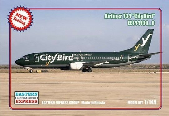 EASTERN EXPRES 144130 -6 CIVIL AIRLINER B -737 -400 CITYBIRD AIRLINES 1  144 NY
