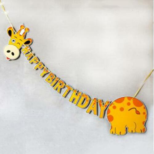 Details about  /Letter Flags Animal Bunting Giraffe Banner Colorful Fashion Pulling Flowers DS