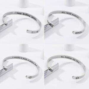 HOT-Engrave-Women-Men-Bracelet-Stainless-Steel-Heart-Star-Bangle-Bracelet-Cuff