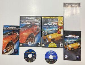 Need for Speed: Underground & Hot Pursuit 2 Nintendo GameCube Bundle COMPLETE!!