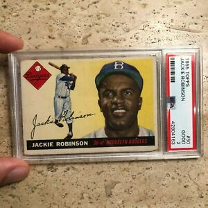 1955-Topps-Jackie-Robinson-50-PSA-2-Authentic-Iconic-Card-HOF-Brooklyn-Dodgers