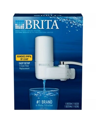 BRITA Faucet Mount WATER FILTRATION SYSTEM FILTER 2 Filters Lot New Open Box