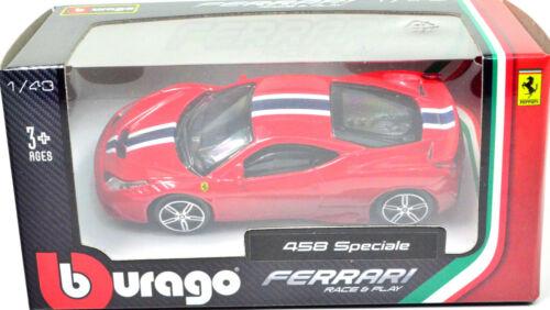 Ferrari 458 Speciale rot Maßstab 1:43 von bburago
