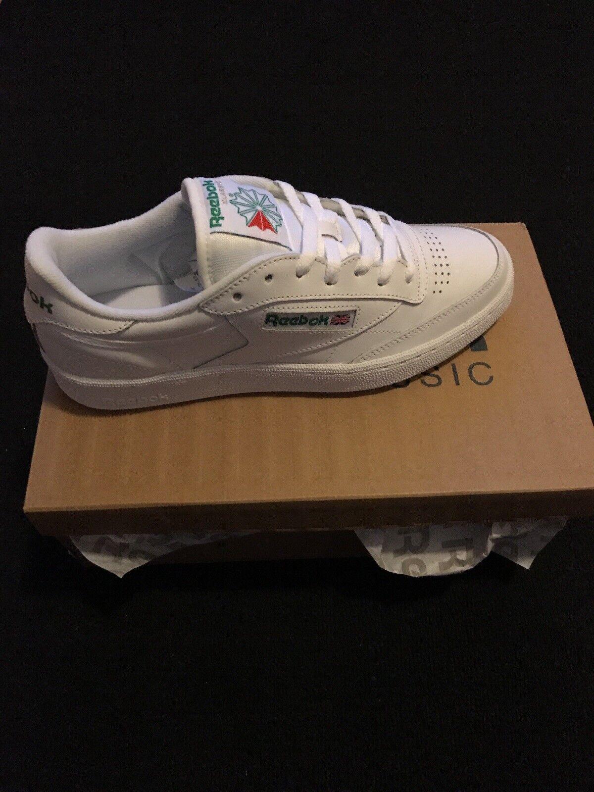 Reebok Classic Men's Tennis shoes Size 9 D Narrow White Leather Exercise