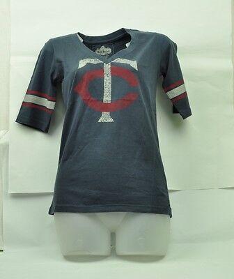 Weitere Ballsportarten Systematisch Mlb Texas Rangers Red Jacket Damen Medium Kurzärmelig Distressed Blau T-shirt SchöNe Lustre