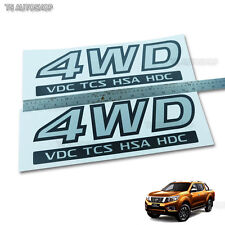 Grey Sticker Rear 4WD VDC TCS Tail Decal For Nissan Navara NP300 D23 Ute 2015 17