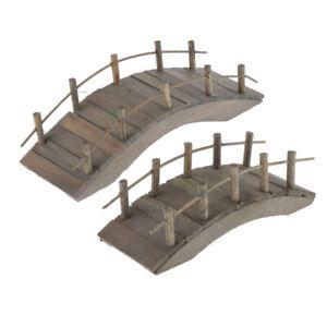 2-Lot-1-12-Doll-House-Miniature-Wooden-Bridge-Craft-DIY-Fairy-Garden-Ornaments