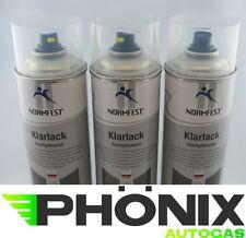 3x Normfest Klarlack hochglänzend Lack-Spray