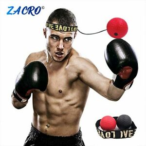 Fight Ball Reflex Boxing React Training Boxer Speed Punch Head Cap String ZY