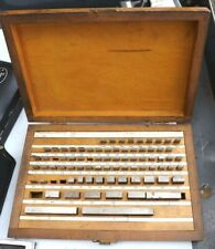 Vintage Fowler 81 Piece Machinist Steel Block Gauge Set Withcase Missing 5 Pieces
