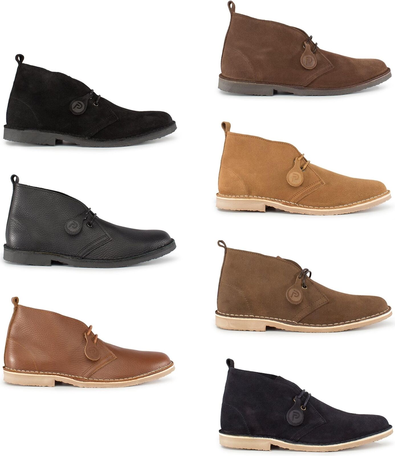 Popps™ ORIGINAL Unisex Mens Womens Suede Leather Casual Lace Up Desert Boots