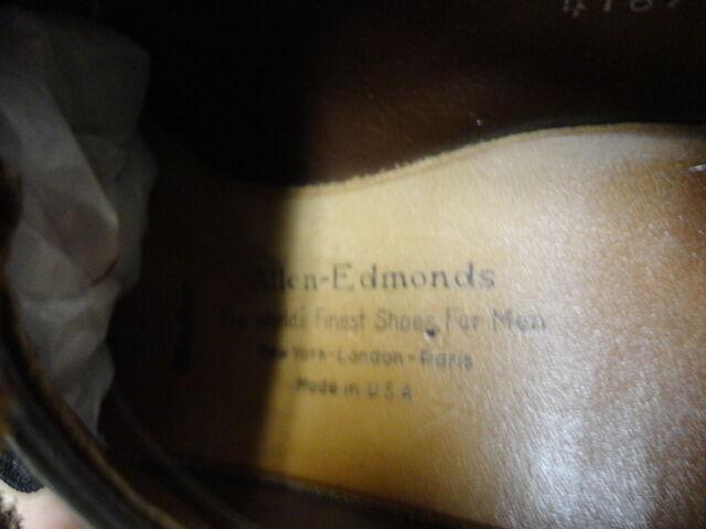 VINTAGE ALLEN EDMONDS MAYFAIR MONK GREAT STRAP schuhe GREAT MONK COND MADE IN USA 10AA 593a14