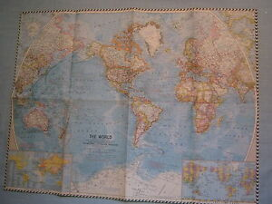 Vintage the world wall map national geographic november 1960 mint ebay trwa adowanie zdjcia vintage the world wall map national geographic november gumiabroncs Image collections