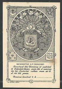 image pieuse ancianne Bendicion de San Francisco santino holy card estampa s9ER8BqU-09103630-448509777