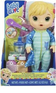 Baby-Alive-Mix-My-Medicine-Baby-Doll-Kitty-Cat-Pajamas-Drinks-and-Wets