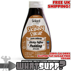 SKINNY SYRUP Zero Calorie Sticky Toffee Pudding Sauce VEGAN Fat/Gluten/SugarFree