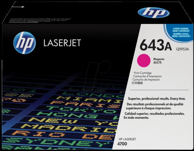 Original HP Toner Q5953A  643A magenta für HP  4700N neu D