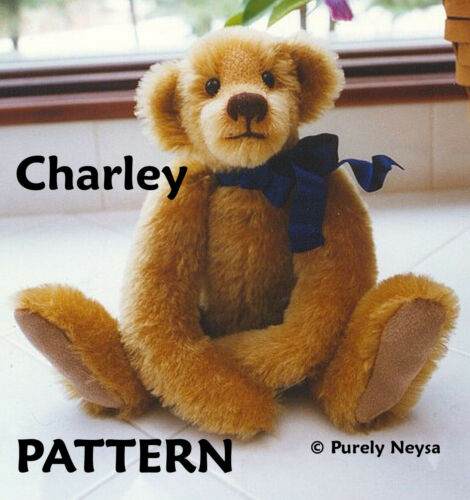 Mohair Charley  Teddy Bear PATTERN by Neysa A. Phillippi of Purely Neysa