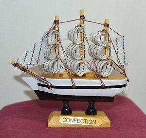 New vintage nautical wooden wood ship sailboat boat home model decor 3 5 5 ebay - Domestication home decor model ...