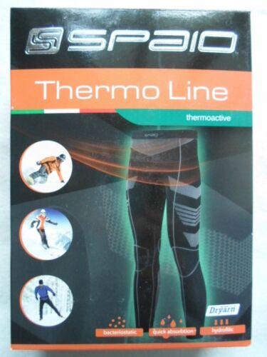 Herren Ski Unterhose lang Spaio Thermo Line thermoaktivW03 Größe XL schwarz//grau