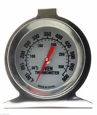 Stainless Steel Baking Oven Cooker Thermometer Temperature Gauge 300ºC, 600ºF