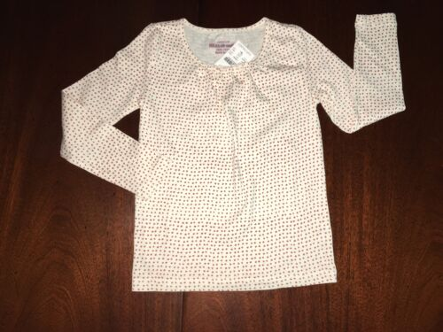 NWT 4//5 or 10 Crewcuts Sunset Dots L//S Tee Gathering at Neck