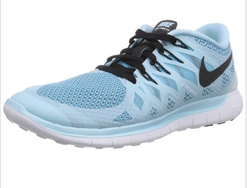 3588a8c513c6 Nike Womens Free 5.0 Ice Cube Blue Black Clearwater Running Shoe 6.5 M US