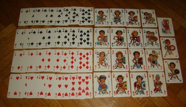 Playing voitureds Poker-Italia World Champion Football 82' - Original-Full Set