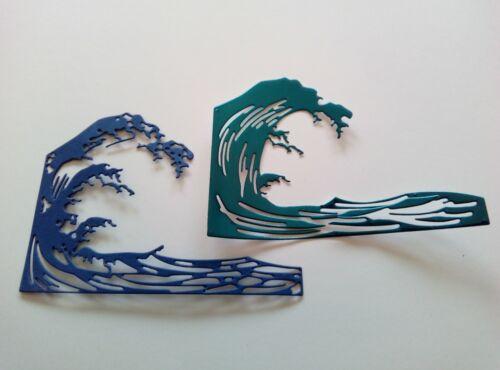 2 pce ocean waves sea spray die set metal cutting die cutter UK Seller Fast Post