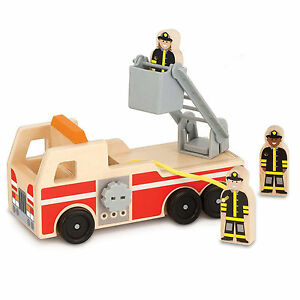 Melissa-And-Doug-Classic-Toy-Wooden-Fire-Truck-NEW-Toys-Kids
