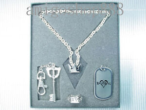 Kingdom-Hearts-Sora-Ring-Key-Blade-Dog-Tag-Necklace-Set-PG