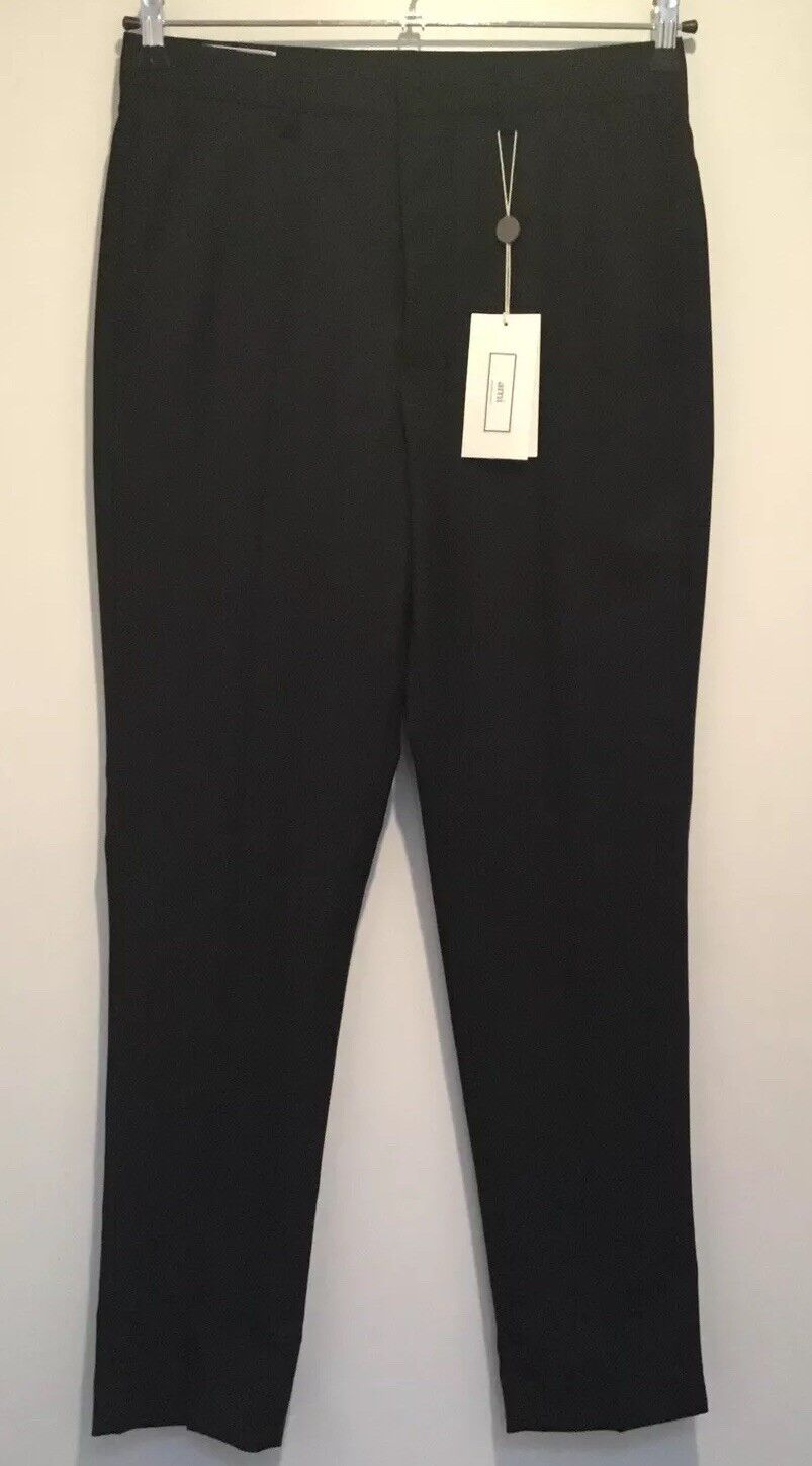AMI ALEXANDRE MATTIUSSI WOOL schwarz CARROT FIT TROUSER france36=small=it46 new