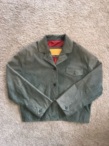 pelle in bottoni verdi Overcoat L con Big Timberland Giacca Donna Sz qgw5Udq
