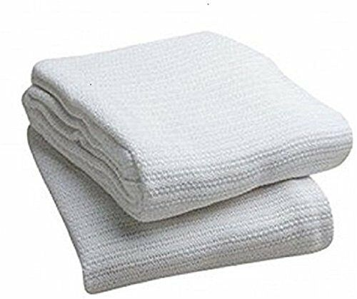 100/% COTTON SOFT THERMAL THROW BLANKETS HOSPITAL TWIN SIZE WHITE BRAND NEW
