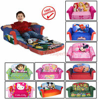 Kid Toddler Sofa Flip Open Nap Bed Chair Seat Lounger Disney Soft Furniture 2in1