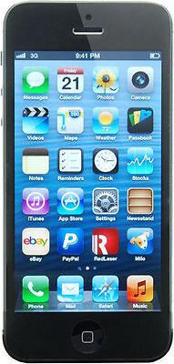 Apple iPhone 5 16GB in schwarz  simlockfrei + brandingfrei +  iCloudfrei in Box