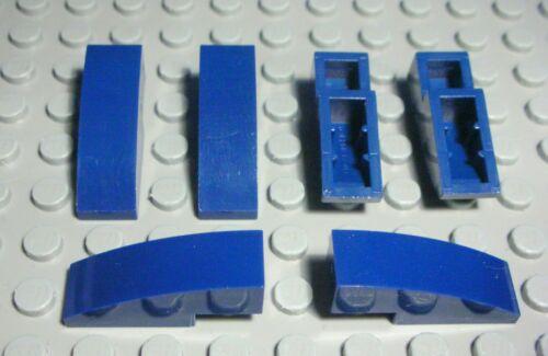 495 # Lego Stein schräg abgerundet 1x3 Dunkelblau 6 Stück