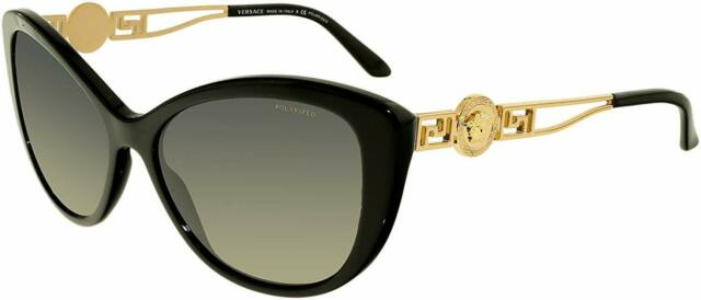 2356ab61ec22 Versace Ve4251 Gb1/11 Size 57 Black Sunglasses With Gradient Lenses for  sale online   eBay
