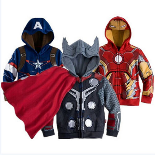 Kids Toddler Boys/' Clothing Superhero Hoodie Hooded Jacket Jumper Sweatshirt