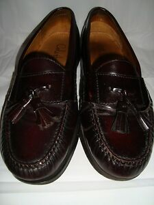 Mens-Cole-Haan-Brown-Leather-Tassel-Loafers-9D-9-D-Shoes