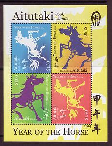AITUTAKI-2014-ANNEE-DU-CHEVAL-NON-MONTES-EXCELLENT-ETAT