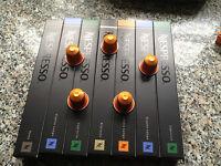 Original Nespresso Kapseln, freie Auswahl aus 24 Sorten 30,40,50,60,70, 80 Stück