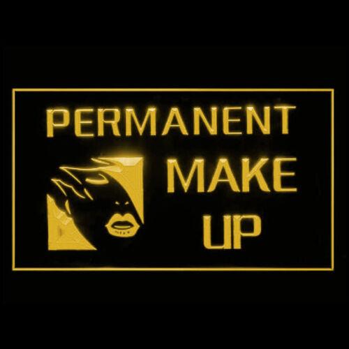 160014 PERMANENT MAKE UP Women Lip Liner Plastic Display LED Light Sign