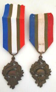 Lot-2-medailles-de-l-039-Union-Nationale-des-Combattants